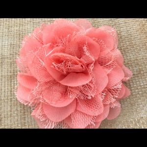 Accessories - Coral Flower Hair Clip